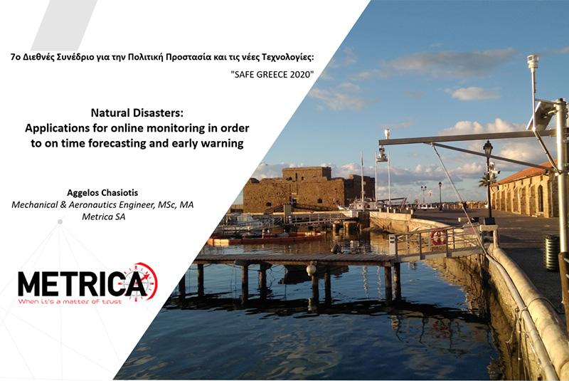 Παρουσίαση στο 7o Διεθνές Συνέδριο για την Πολιτική Προστασία και τις νέες Τεχνολογίες - Safe Greece 2020